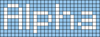 Alpha pattern #696 variation #33703