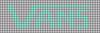 Alpha pattern #27652 variation #35060