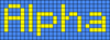 Alpha pattern #696 variation #38874