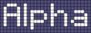 Alpha pattern #696 variation #43258