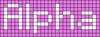Alpha pattern #696 variation #52724