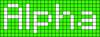 Alpha pattern #696 variation #52889