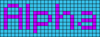 Alpha pattern #696 variation #53307