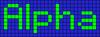 Alpha pattern #696 variation #57409