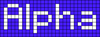 Alpha pattern #696 variation #69262