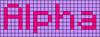 Alpha pattern #696 variation #71618