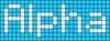 Alpha pattern #696 variation #85953