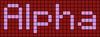 Alpha pattern #696 variation #90533