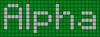 Alpha pattern #696 variation #93935