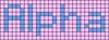 Alpha pattern #696 variation #95855