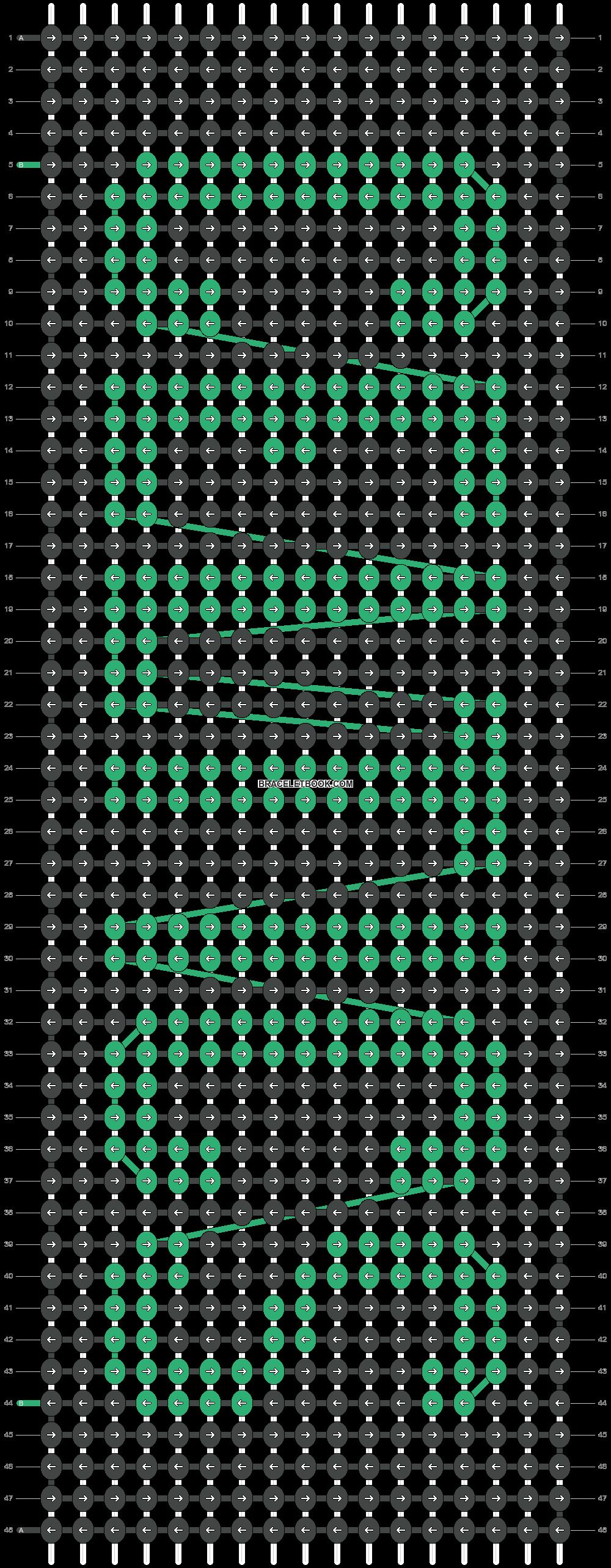 Alpha pattern #4551 variation #97874 pattern