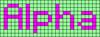 Alpha pattern #696 variation #98891