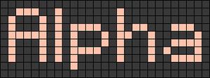 Alpha pattern #696 variation #126676