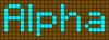 Alpha pattern #696 variation #129125