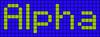Alpha pattern #696 variation #145769